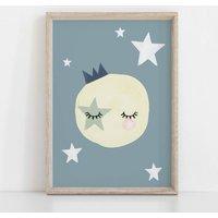 The Sun Is Asleep Children's Nursery Print