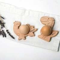 Dinosaurs Organic Personalised Egg Cups Holders