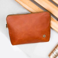 Ladies Small Buffalo Leather Cosmetics Case