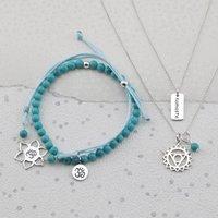 Silver Throat Chakra Jewellery Set, Silver