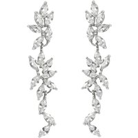 White Topaz Drop Earrings Diamante