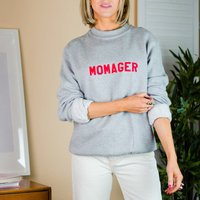 'Momager' Slogan Sweatshirt