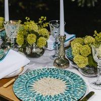 Aqua Pearl Tablescape Table Décor Package