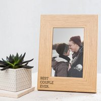 Best Couple Ever Engraved Photo Frame