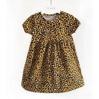 Mustard Leopard Print Childrens Dress