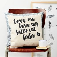 Personalised Love My Cat Cushion