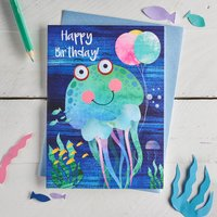 Cute Jellyfish Birthday Card
