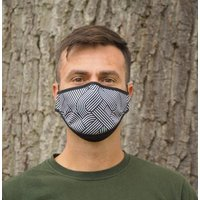 Black Patterned Sustainable Adult Reusable Face Mask