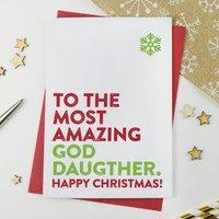 Christmas Card For Goddaughter