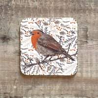 Christmas Robin Coaster
