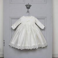 Rose Long Sleeved Christening Dress