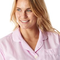 Pretty Pink Gingham Cotton Ladies Pyjamas, Pink