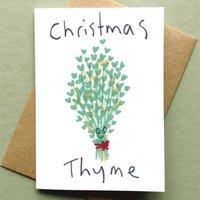 Christmas Card Pack Of Six Christmas Thyme