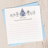 Pack Of Christening Thank You Cards