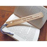 Personalised Gift Oak Bookmark