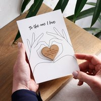 Wooden Heart Hand Keepsake Card