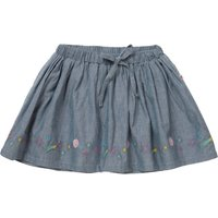 Outer Space Embroidered Chambray Skirt