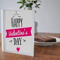 Happy Valentines Cake Card