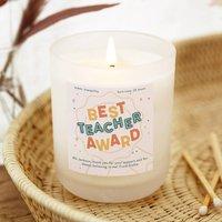 Teacher Gift Best Teacher Candle