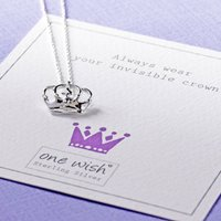 Princess Crown Sterling Silver Necklace, Silver