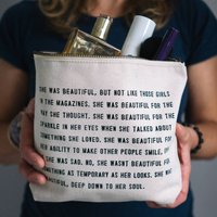 Inspirational Quote Make Up Or Wash Bag