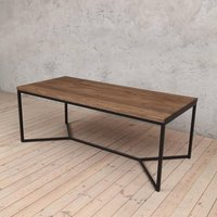 Tower Brown Oak Dining Table With V Shaped Legs