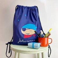 Kids Pirate Gym Bag With Name