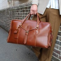Oxley Eco Friendly Leather Weekend Bag In Saddle