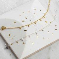 Gold Bracelet With White Topaz Gemstones, Gold