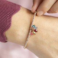 Beaded Charm Bracelet With Family Birthstones