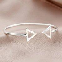 Personalised Fine Triangle Cuff
