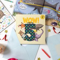 Wow You're Five! A Birthday Book You Can Send As A Card