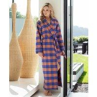 Womens Tangerine Dream Tartan Flannel Robe