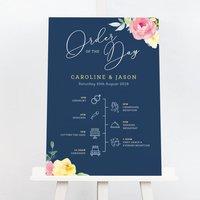 Caroline Wedding Order Of The Day Sign