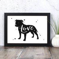Staffordshire Bull Terrier 'Love' Print