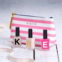 Monogram Nail Polish, Hot Pink/Pink/Quick Silver