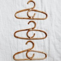 Curved Baby And Kids Rattan Hanger Set Of Three