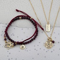 Gold Root Chakra Jewellery Set, Gold