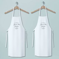 First Christmas As Mr And Mrs Apron Set