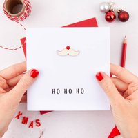 Santa Moustache Personalised Christmas Card