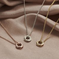 Petite 9ct Gold Russian Ring Necklace, Gold