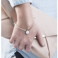 Mini Initial Locket Charm Bracelet, Silver/Rose Gold/Rose