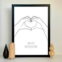 Heart Shapes Personalised Print