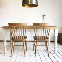 Solid Wood Vintage Farmhouse Table, White