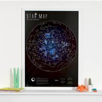 Star Map Glow In The Dark Print