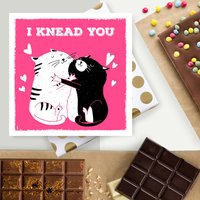 Valentine's Chocolate Card From The Cat Or Cat Lover