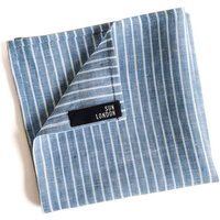 Benjamin Striped Linen Pocket Square