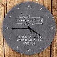 Personalised Kitchen Slate Clock