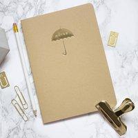 Gold Umbrella Kraft A5 Notebook