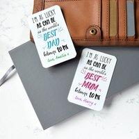 Personalised Best Mum Or Dad Wallet Metal Card